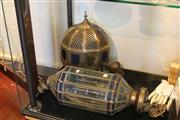 Sale 8189 - Lot 121 - Moroccan Dodecagon Glass Lamp with Another Similar Example