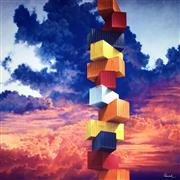 Sale 8350E - Lot 36 - Matthew Quick (1967 - ) - Pure Rationalism 77 x 77cm