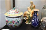 Sale 8379 - Lot 174 - Chinese Tang Style Figure Group, Vase & Ginger Jar