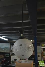 Sale 8405 - Lot 2318 - Etched Glass Light Fitting
