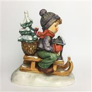 Sale 8456B - Lot 38 - Hummel Figure of a Boy on Toboggan