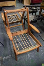 Sale 8550 - Lot 1081 - Pair Vintage Teak Armchair Frames