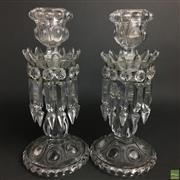 Sale 8654 - Lot 68 - Baccarat Pair Of Crystal Candlesticks