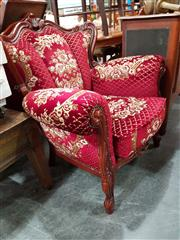 Sale 8717 - Lot 1077 - Heavily Carved Lounge Chairs