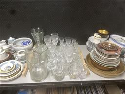 Sale 9101 - Lot 2427 - Collection of Glasswares incl. Decanters, Vases, Glasses, etc.
