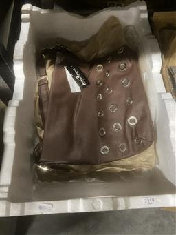 Sale 9106 - Lot 2180 - Four Brand New (In Packaging) Chocolate Brown Tote Shoulder Bags
