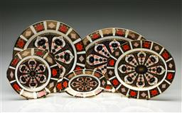 Sale 9192 - Lot 69 - A Royal Crown Derby Imari Pattern Suite of Five Varied Trays
