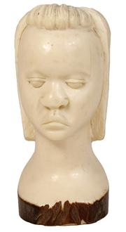 Sale 7978 - Lot 75 - Ivory Carved Bust of an African Girl