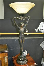 Sale 8105 - Lot 1003 - Standing Lady Figure Up Lamp