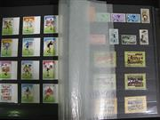 Sale 8125 - Lot 64 - Football Stamps - a large album full of mostly mint world stamps, all depicting World Cup and other football subjects
