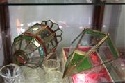 Sale 8189 - Lot 145 - Moroccan Green Glass Wall Sconce with Another Moroccan Lamp