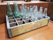 Sale 8782 - Lot 1090 - Vintage Coca Cola Crate with Bottles