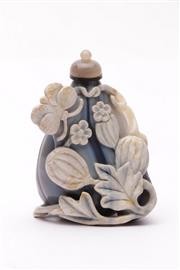 Sale 9032 - Lot 52 - An Unusual Chinese Stone Snuff Bottle H:8cm