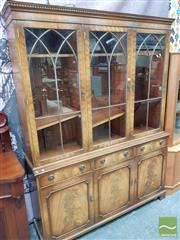 Sale 8469 - Lot 1076 - Timber Wall Unit with Astragal Doors