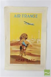 Sale 8540 - Lot 92 - Early Air France Poster Mounted on Canvas ( Ref 486, H 57cm x W 40cm)
