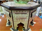 Sale 8566 - Lot 1198 - Mother of Pearl Inlaid Octagonal Top Occasional Table (76)