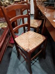 Sale 8717 - Lot 1068A - Set of 6 Dining Chairs with Rush Seats
