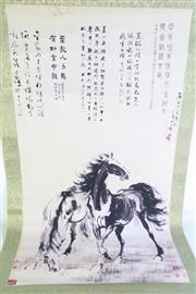 Sale 8909S - Lot 614 - A Chinese Scroll Of Two Horses