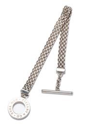 Sale 9031H - Lot 5 - A Tiffany & Co Silver Mesh Somerset Toggle Bracelet, length 18cm, in pouch and box -