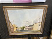 Sale 9069 - Lot 2018 - A painting of a Rural Town Scene 1970s by Griffiths, 47 x 57cm -