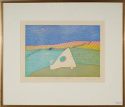 Sale 9118 - Lot 2004 - Atsushi Inoue (1930 - ) - Competition (on the way) 23 x 34.5 cm 9frame: 47 x 55 cm)