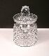 Sale 3568 - Lot 16 - A WEBB CRYSTAL BISCUIT BARREL