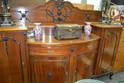 Sale 8093 - Lot 1752 - Late Victorian Mahogany Bowfront Sideboard of Large Proportions (key in office)