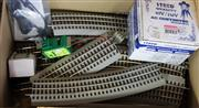 Sale 8376 - Lot 43 - Quantity of Lionel Train O Gauge Three Rail Tracks plus Transformers; and adaptor cable.
