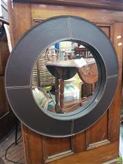 Sale 8566 - Lot 1220 - Leather Covered Mirror (60)