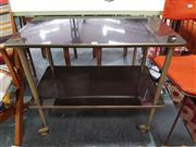 Sale 8680 - Lot 1069 - Art Deco Two Tier Drinks Trolley