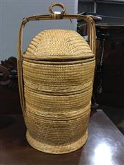Sale 8795 - Lot 1064 - Woven Rice Carrier