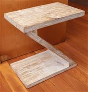 Sale 8891H - Lot 54 - A Z form magazine stand/side table, Height 40cm x Width 40 cm x Depth 25cm