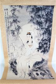 Sale 8909S - Lot 647 - Guanyin Themed Chinese Scroll