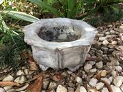 Sale 9015G - Lot 61 - Carved Genuine Stone Bonsai Planter, General Wear. Small Chips on Base .Size: 39cm D x19cm H