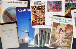 Sale 9254 - Lot 2032 - Group of Art Books & Craft magazines incl. Norman Lindsay Watercolours, Craft Australia; national Art Gallery of NSW; etc