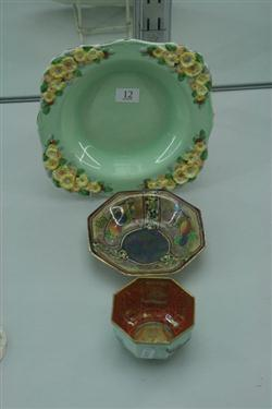 Sale 7914 - Lot 12 - Wedgwood Lustre Ware Sugar Bowl & 2 Other Dishes