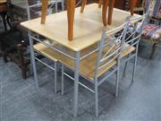 Sale 7944A - Lot 1040 - Modern Four Piece Kitchen Suite Incl Table And Four Chairs