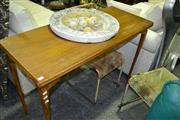 Sale 8093 - Lot 1519 - Timber hall Table on Cabriole Legs