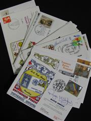 Sale 8125 - Lot 66 - Signed Football First Day Covers - 21 English Football First Day Covers 1988-1991, 8 signed incl Roger Milford, Tommy Johnson, Bruce...