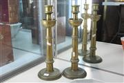 Sale 8360 - Lot 25 - Pair Of Solid Brass Candlesticks