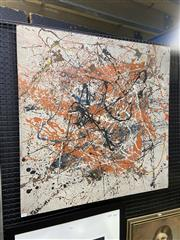 Sale 9050 - Lot 2023 - Artist Unknown, Untitled abstract, oil on board, 91.5 x 91.5 cm, no visible markings