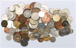 Sale 9144 - Lot 415 - Several sheets of World coins to include Australian pennies (14 sheets),