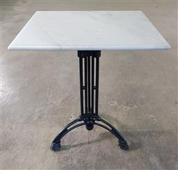 Sale 9255 - Lot 1167 - Waterproofed square marble top table (h:74 w:70 d:70cm)