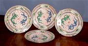 Sale 8127A - Lot 14 - A Selection of Four Chinese Export Shallow Dishes , Republic ,