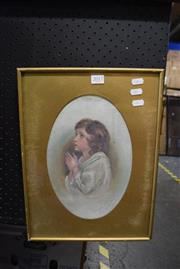 Sale 8346 - Lot 2017 - J.M. Rogers (XX) La Preghiera (After J. Reynolds), framed oil painting, signed and dated lower right