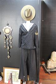 Sale 8346 - Lot 206 - Vintage Royal Australian Navy Stewards Winter Uniform With a Naval Slouch Hat