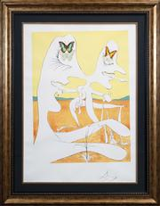 Sale 8420 - Lot 549 - Salvador Dali (1904 - 1993) - Butterflies of Anti-matter, 1974 (from Conquest of the Cosmos) 74 x 55cm