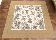 Sale 8470H - Lot 157 - A French Iosis Paris viscose/rayon throw, with Chinoiserie design, 148 x 148cm, as new