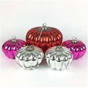 Sale 8607R - Lot 92 - Set of Five Glass Christmas Baubles (W: 20cm)