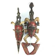 Sale 8645D - Lot 75 - Pair Of Malaysian Cultural Carved Masks